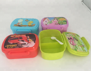 PP Plastic Lunch Bento Box Children Lunch Box/Leakproof Bento Lunch Box for Kids and Adults with 2 Storage Compartments