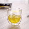 Double Wall Small Clear Beer Whiskey Glass Cup