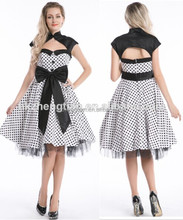 Retro polka dot stand callor big bow party dresses swing dance vintage rockabilly dress 50s for women instlyles outfit S-6XL 2