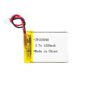 UL approved 103040 1200mah rechargeable 3.7v li-ion battery 3.7 volt camera digital batteries with custom case