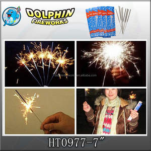 "sparkler fireworks electric fireworks 0977 7"" golden sparkler stick firework wholesale"