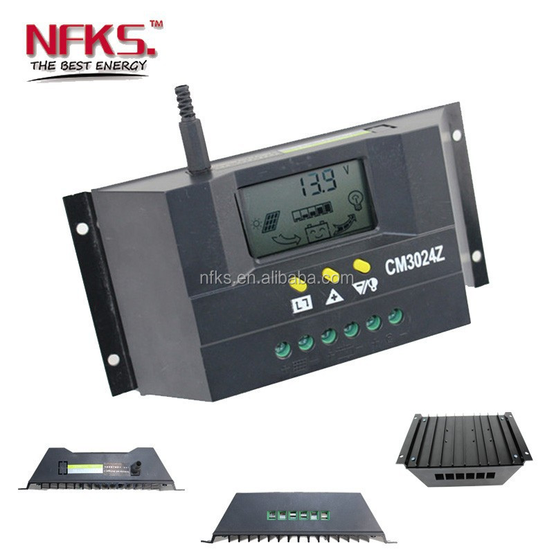 30a 12v 24v auto pwm solar charge controller solar. Black Bedroom Furniture Sets. Home Design Ideas