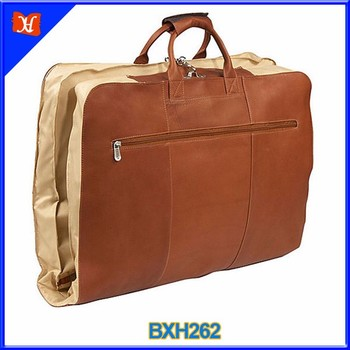 High End Personalized Garment Cover Cotton Lining Stylish Suit Bag