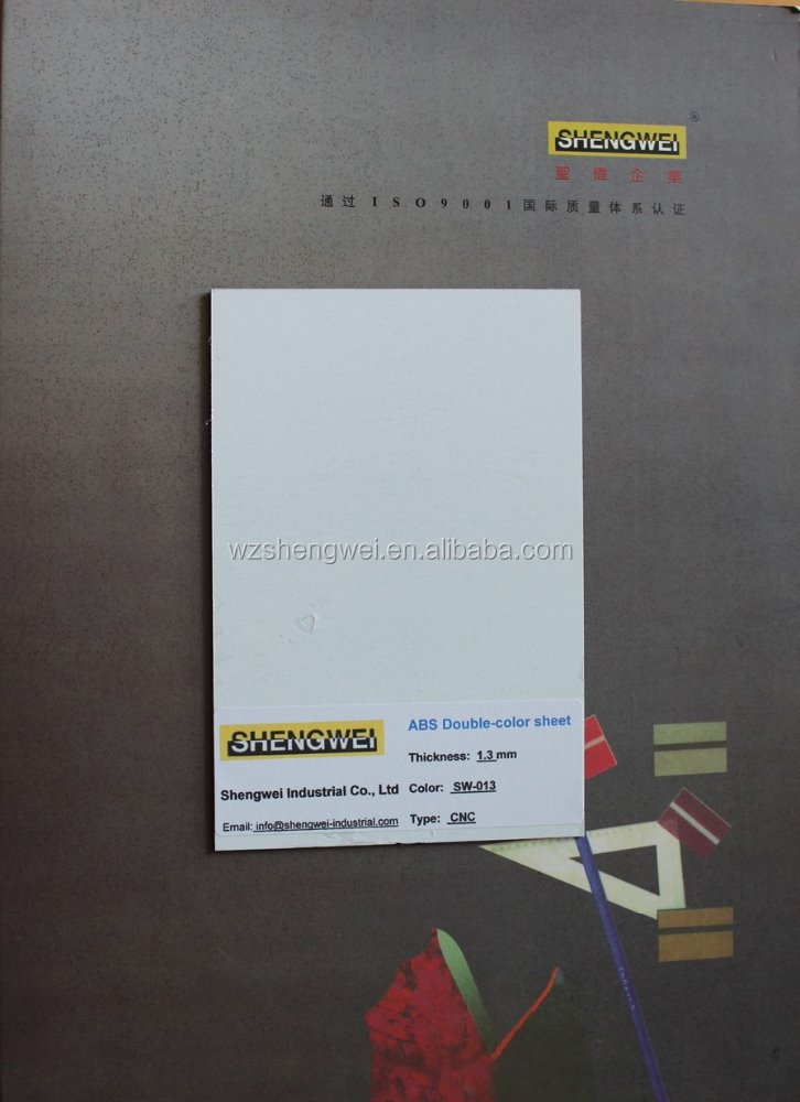 Brilliant white ABS double color sheet UV corona treated surface for outdoor advertising
