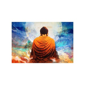 Wall Art Decor Canvas Handmade Buddha Portrait Oil Painting On Canvas