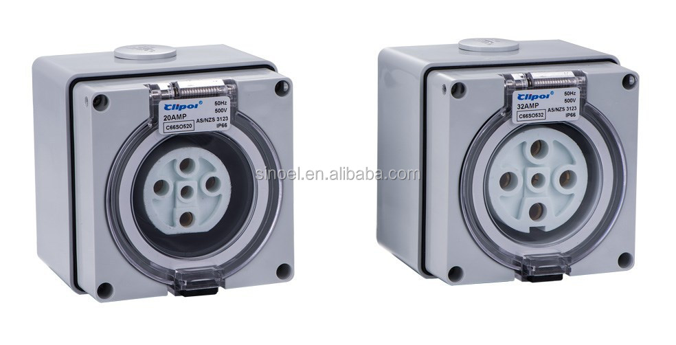 china ningbo 500v industrial socket outlet
