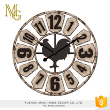 French style vintage home decorative metal round clock