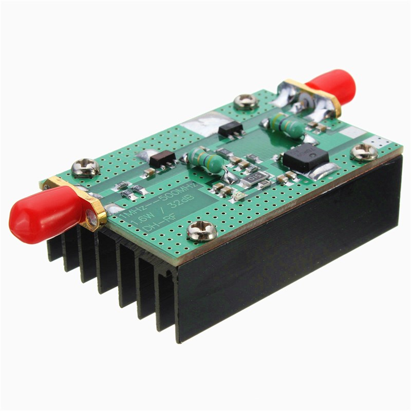 1MHz 500MHZ 1 5W New HF FM VHF UHF RF Power Amplifier For Ham Radio +  Heatsink 5 5x4x1 6cm-in Integrated Circuits from Electronic Components &