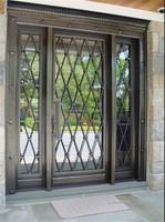 Main Entrance Forged Wrought Iron Door Garage Doors GYD-15D0396