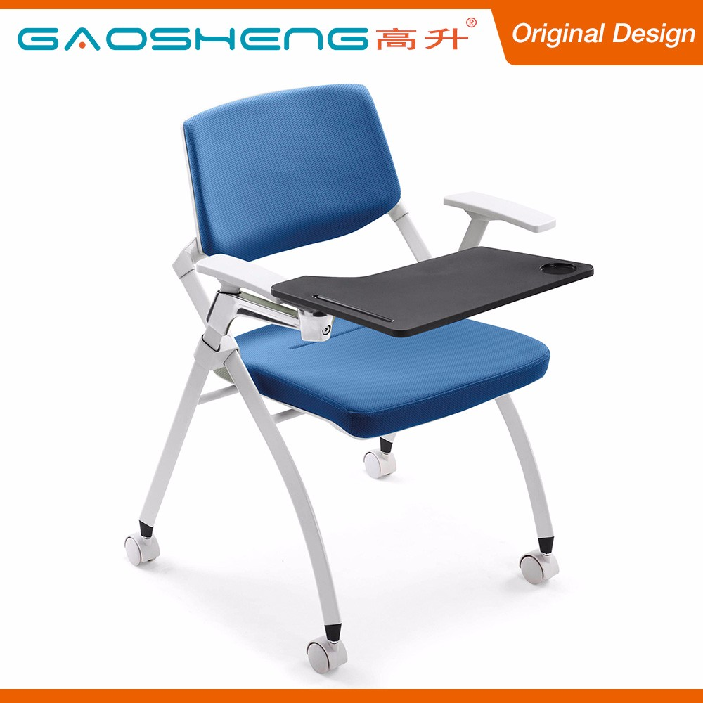 Comfortable Fabric Cushion Student Chair With Writing Table