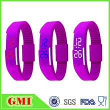 China wholesale FDA approved silicone LED wristband watch