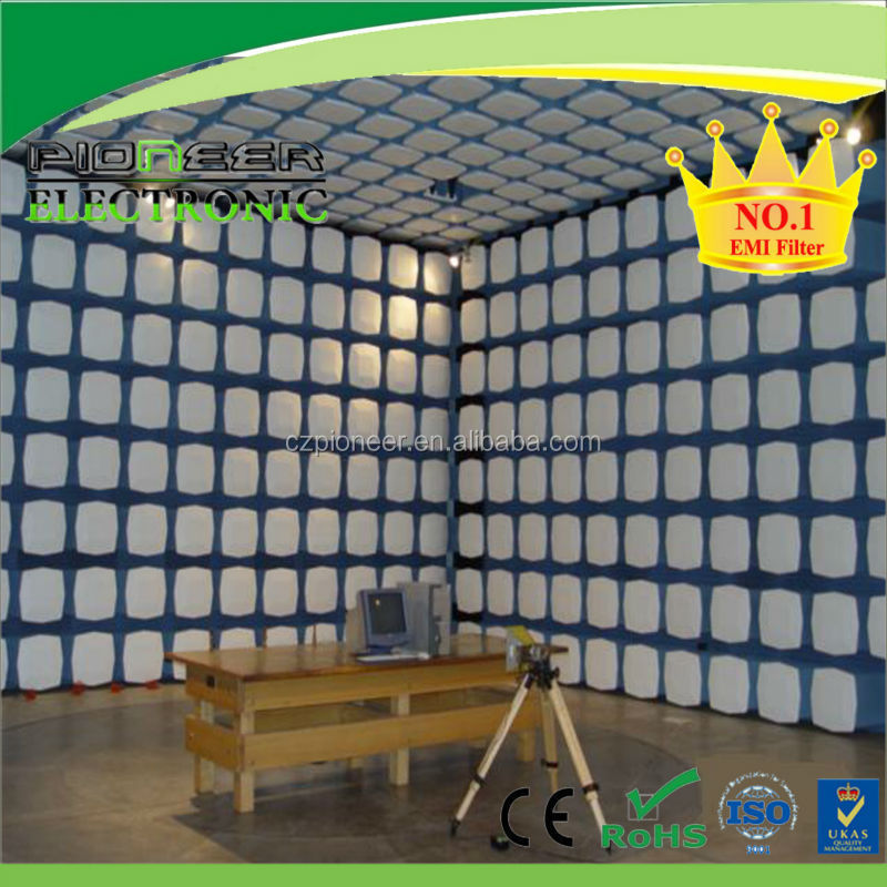 High performance rf shielding emi microwave absorber chamber