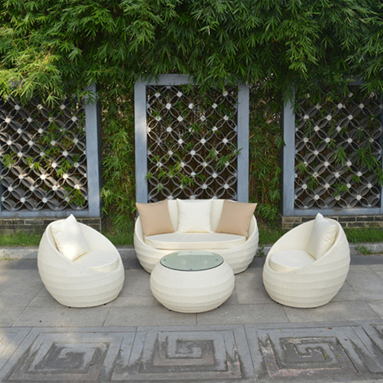 New arrival outdoor furniture swing egg garden rattan sofa set