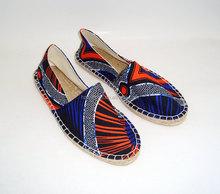 El colorido de la impresión 3d canvas slip on pisos alpargatas canvas shoes zapatos alpargatas de