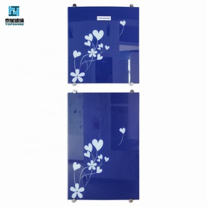 silk screen printing color glittering glass for refrigerator glass door