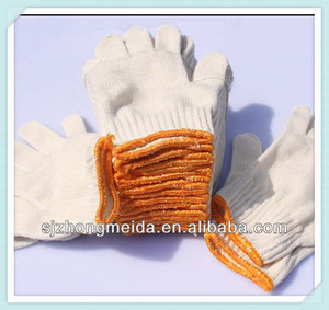 industrial cotton knitted glove for build and work porter