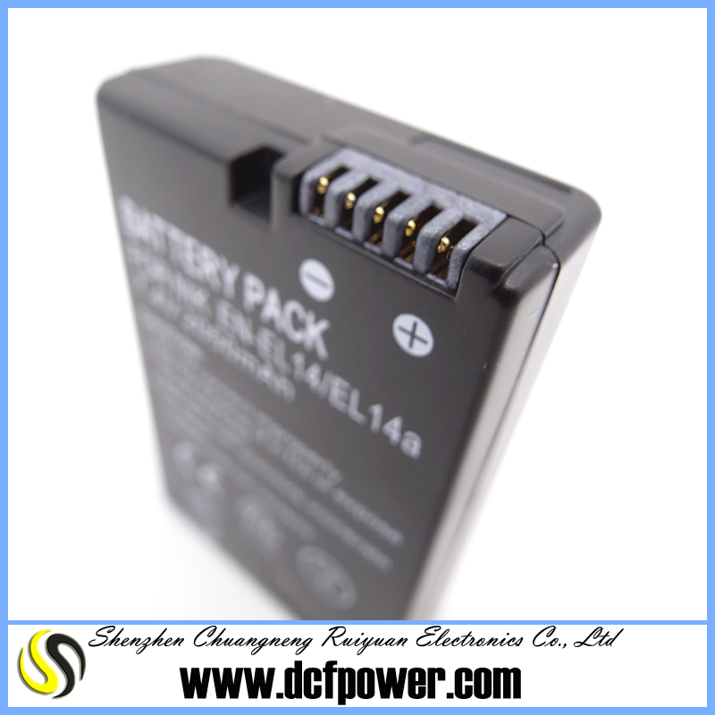 Optimum portable battery EN-EL14+ EN-EL14 for nikon slr d3100 d5500 digital camera made in china