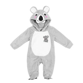 9de24701e Wholesale Fleece Koala Animal Design Footed Funny Kids Pajamas ...