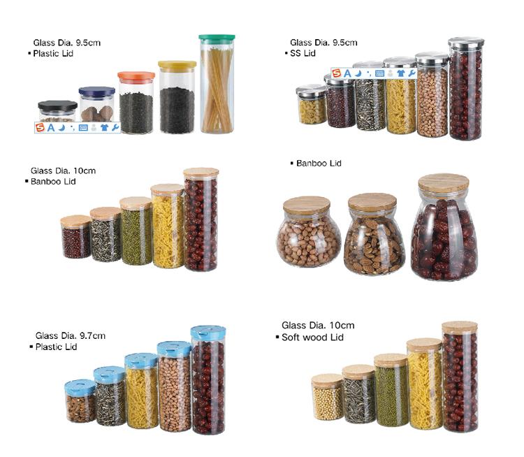 TCJ-9511 Wholesale Large Capacity Einzigartiges rundes Siegelglas-Vorratsglas mit Deckel