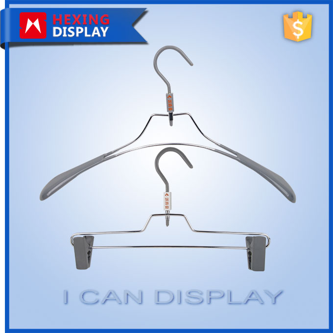 2016 Wholesales Wire Clothes Display Household PVC Coat Hanger
