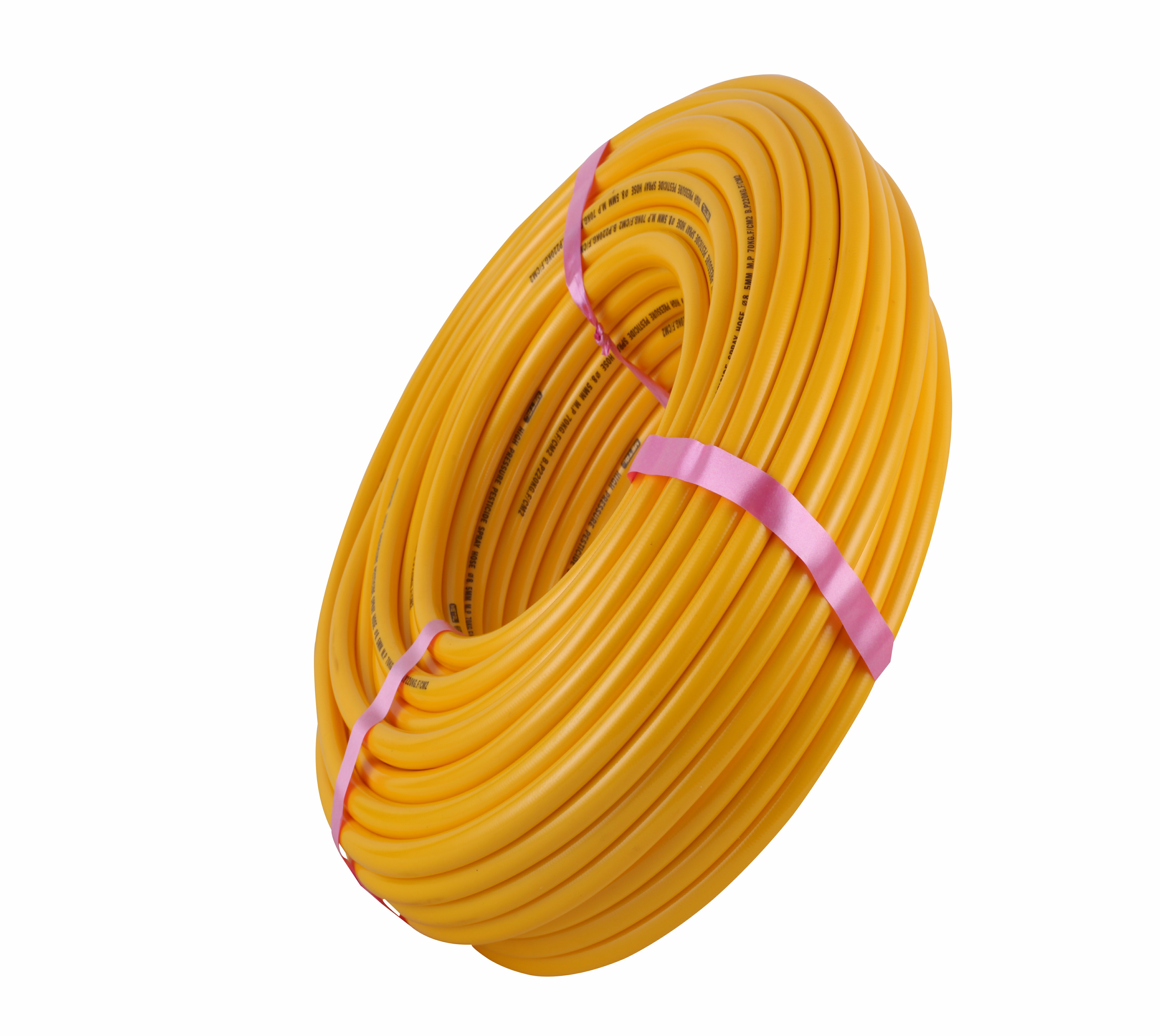Agriculture Irrigation power sprayer hose 5-layer 10mm inner diameter <strong>pvc</strong> braided reinforced high pressure flexible spray pipe