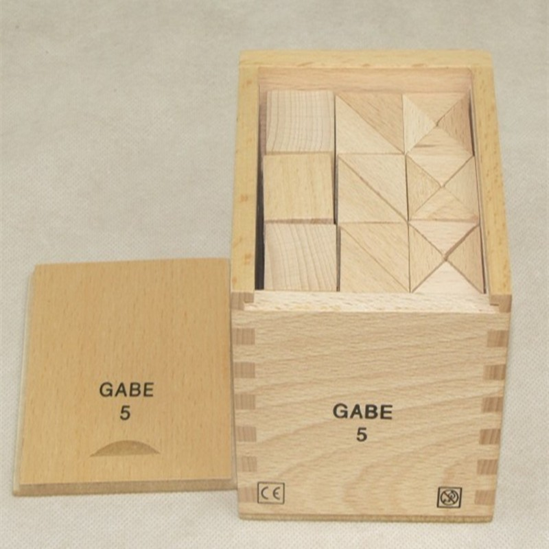 Froebel Baby Toys GABE5 Cube Balance And Symmetry Cognitive Combining/Matching Blocks Learnning Set Educational wooden toy