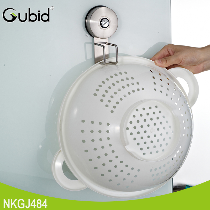 Vacuum Suction Cup Wall-Mounted Kitchen Basket Washbasin Hook