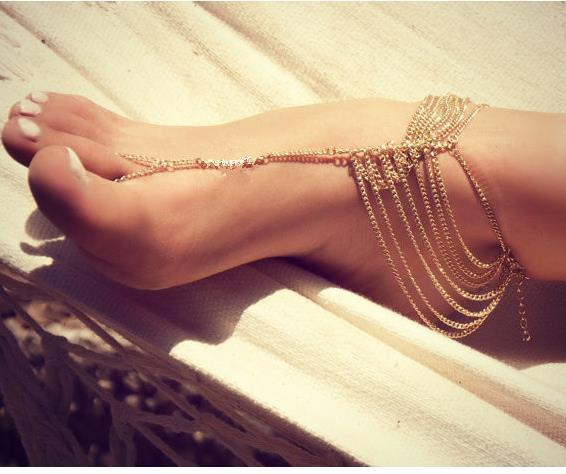 S62160A 2015 hot selling fashion women jewelry anklets with toe ring