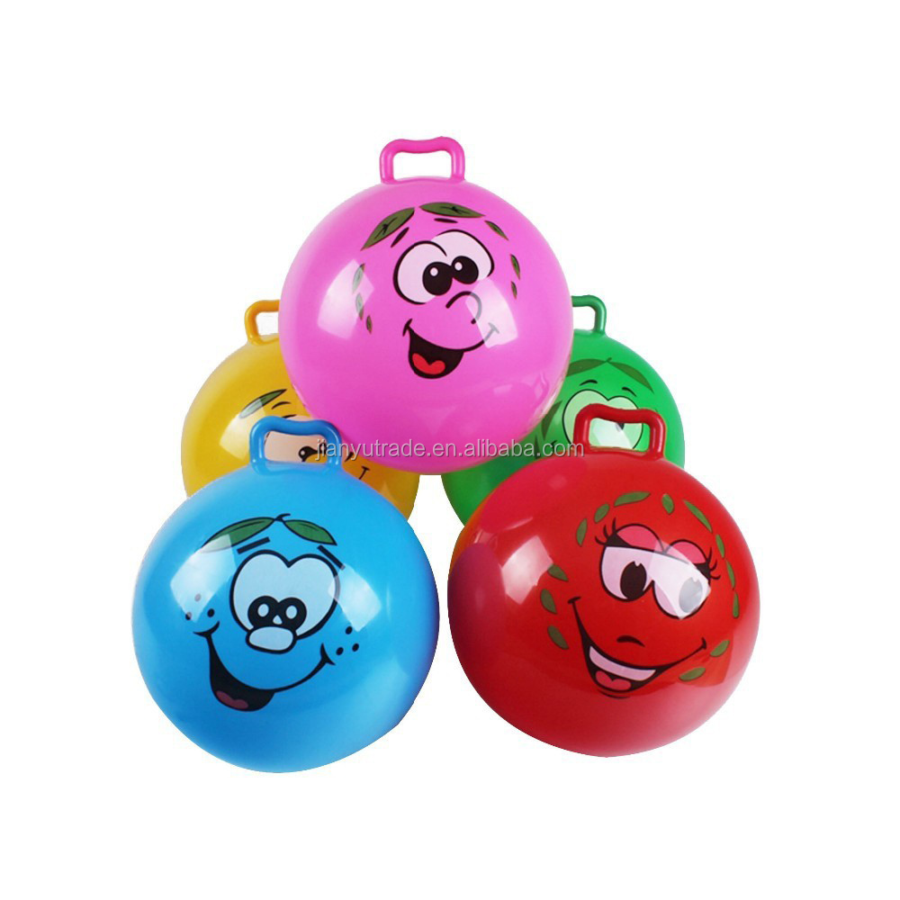 Hot selling Colorful Play high quality kids tennis/space hopper ball and jumping ball with handle