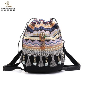 5c795b6c16df Hippie Gypsy Boho Bags Ladies Shoulder Bag Travelling Woman Backpack ...
