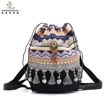 74fd8ecd0b Hippie Gypsy Boho Bags Ladies Shoulder Bag Travelling Woman Backpack ...