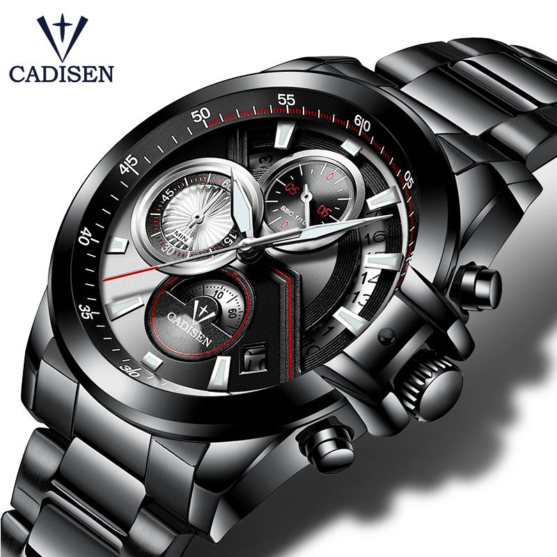 CADISEN Military Army Brand Luxury Sports Casual Waterproof Mens Watch Quartz Stainless Steel Man Wristwatch фото