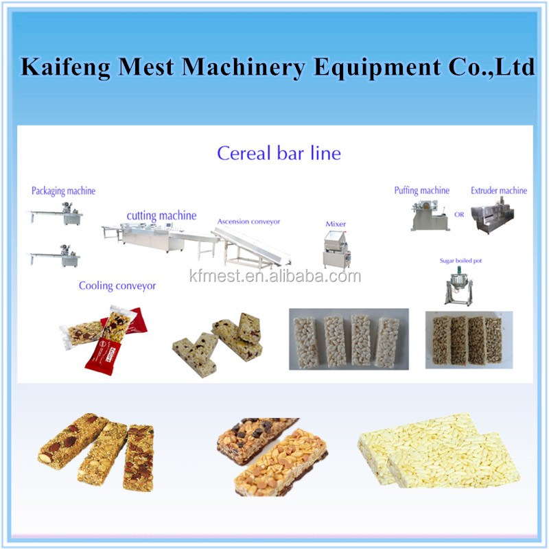Stainless Steel Rectangle Shape Cereal Bar Making Machine / Cereal Bar Maker