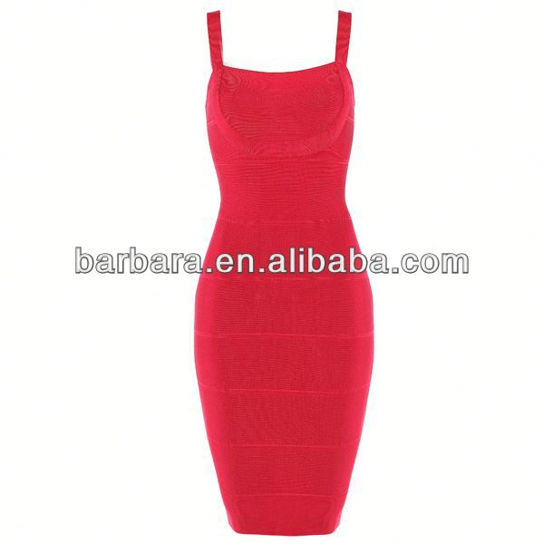 Spaghetti strap white bodycon bandage dress dropshipping