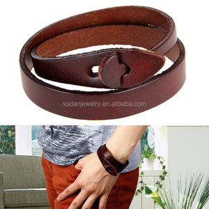Wholesale Personalized Leather Wrap Bracelet Jewelry 2016 Mens Double Wrap Leather Bracelet