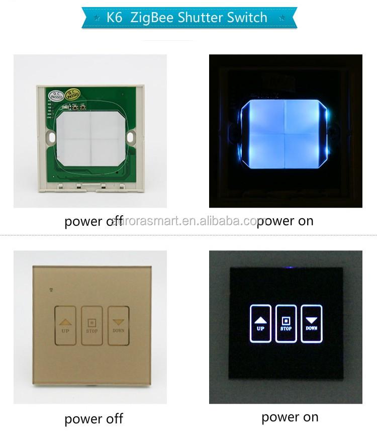 Panel De Vidrio Templado para Interruptor Persiana Wifi Blanco