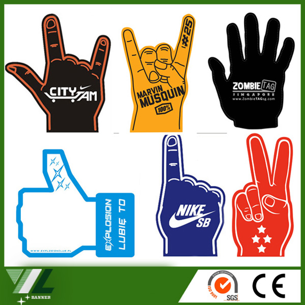 Wave hand foam finger #2 wholesale , shocker big giant foam sponge hand for cheer