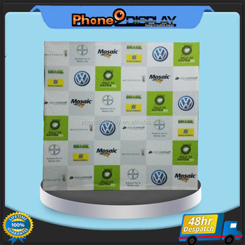 8ft factory price dye Sublimation water proof pop up banner wall stand