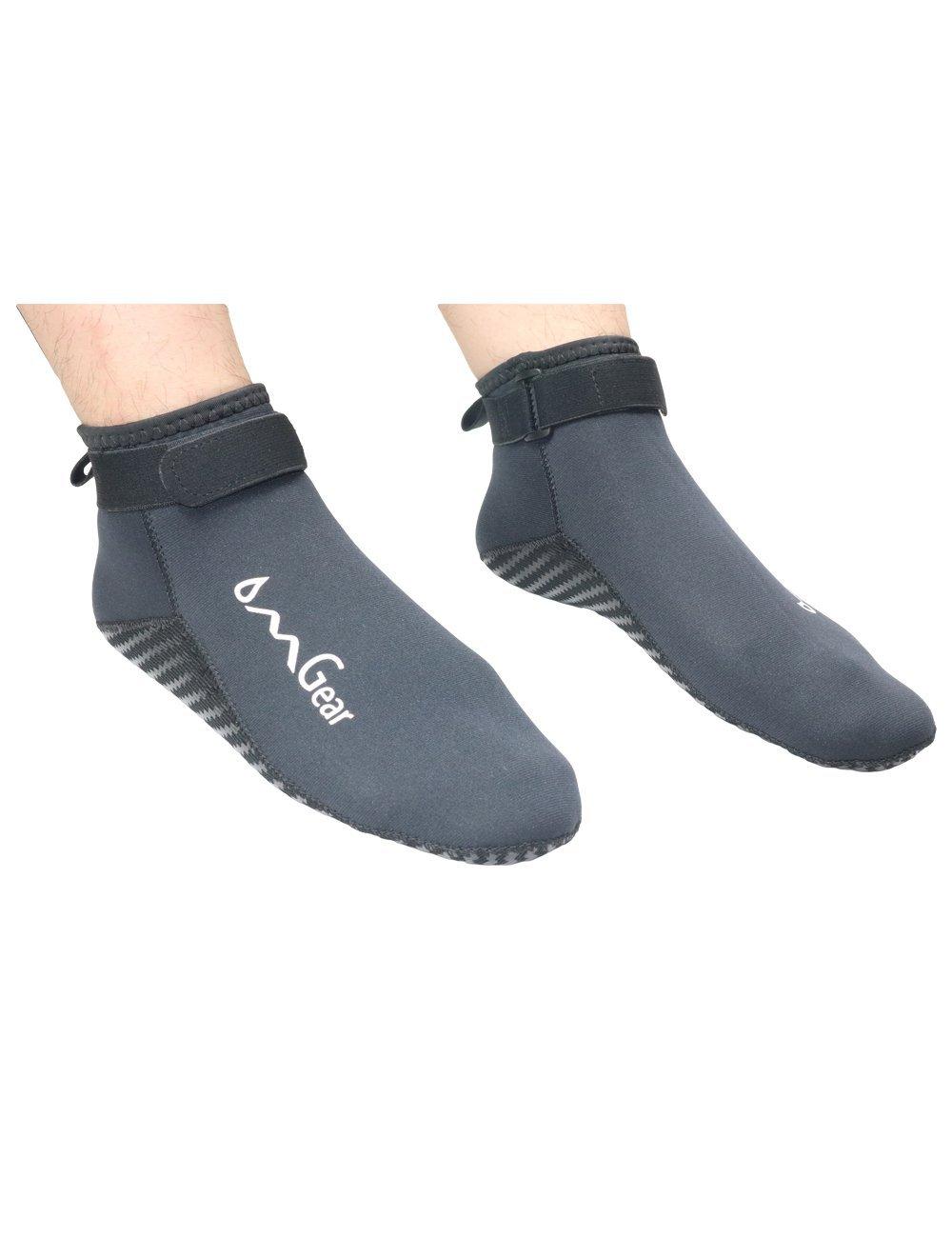 b7a5efb3fdc1 Get Quotations · Water Socks Neoprene Beach Socks Booties Shoes 3mm Glued  Blind Stitched Premium Unisex Anti-slip