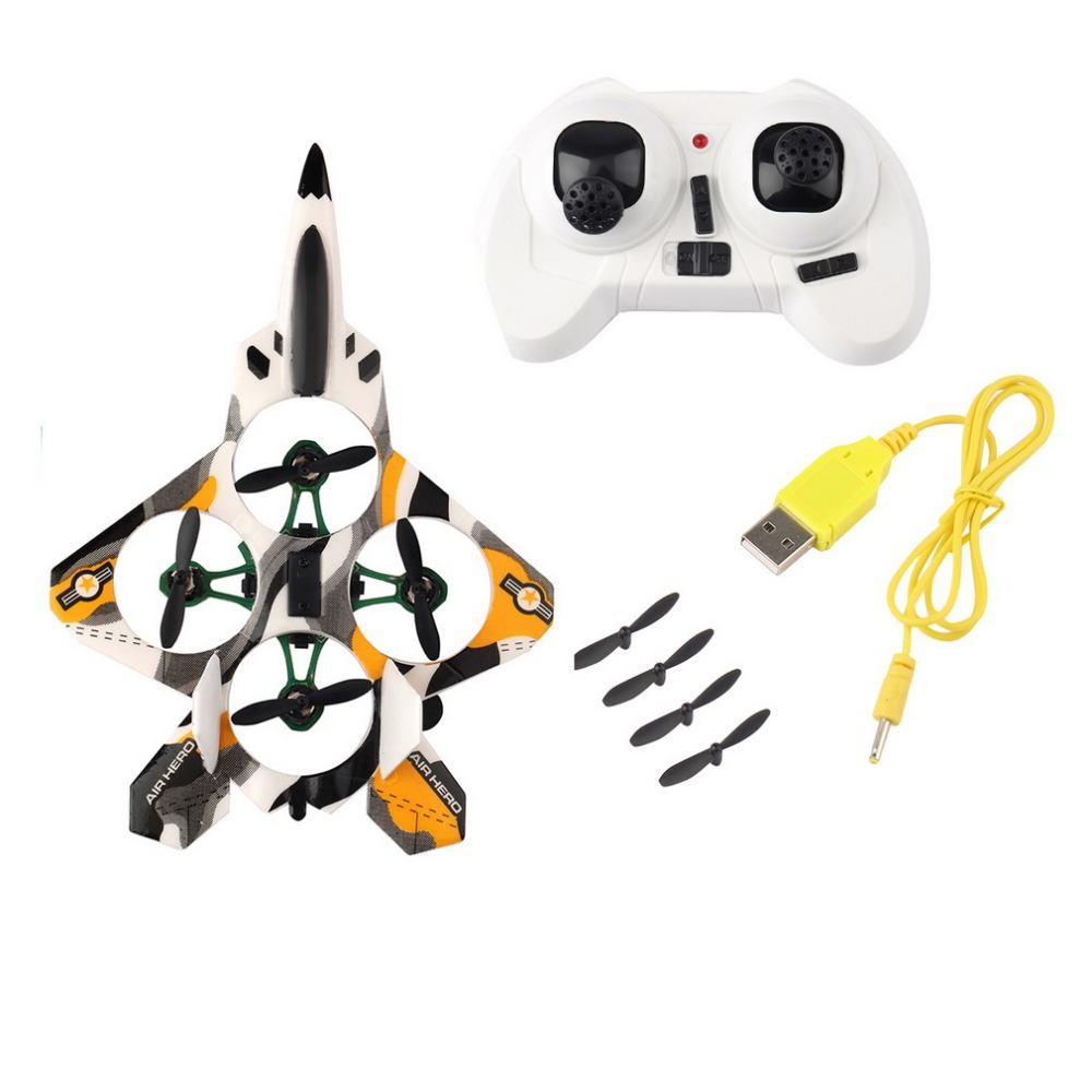 [Newest] Black/Red 4-Channel Charging Radio Remote Control Airplane Wholesale