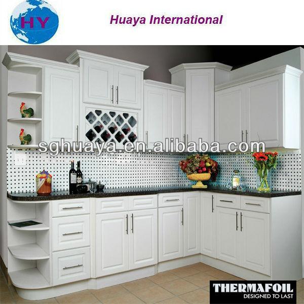 Muy hermoso blanco pvc thermofoil mueble cocinaCocinas