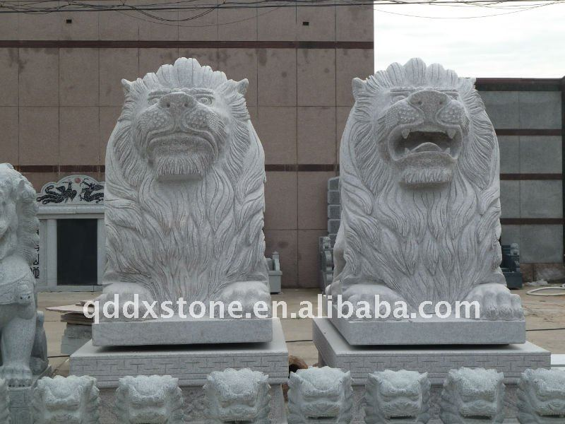 Light Grey Granite Stone Lion Garden Products