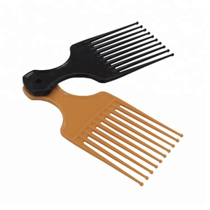 Detangle Wig Braid Black Man Styling Tool Small Plastic Afro Pik Lift Hair Comb with tips