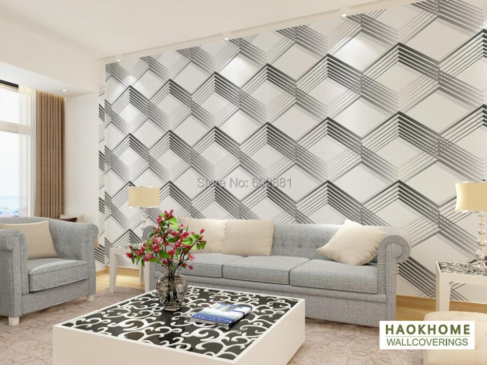 papel pared moderno decoracion del hogar. Black Bedroom Furniture Sets. Home Design Ideas