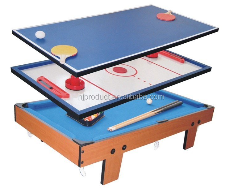Deluxe 3 In 1 Multi Games Table Pool Table Table Tennis Combined