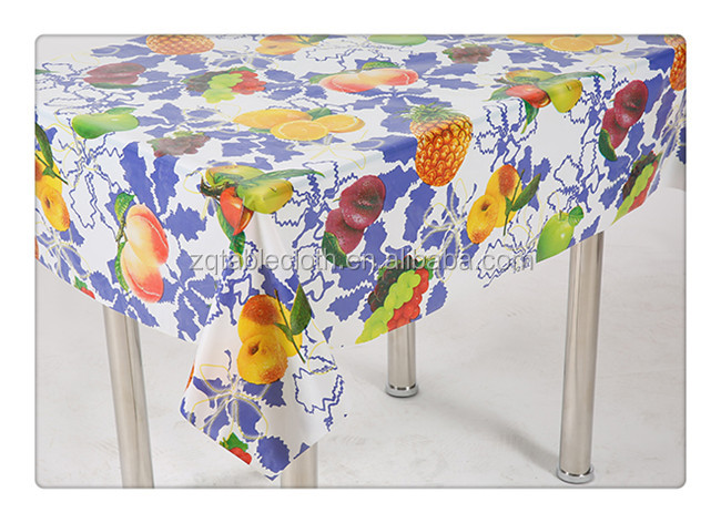 Eco-friendly plastic tablecloths square pvc tablecloth in yiwu