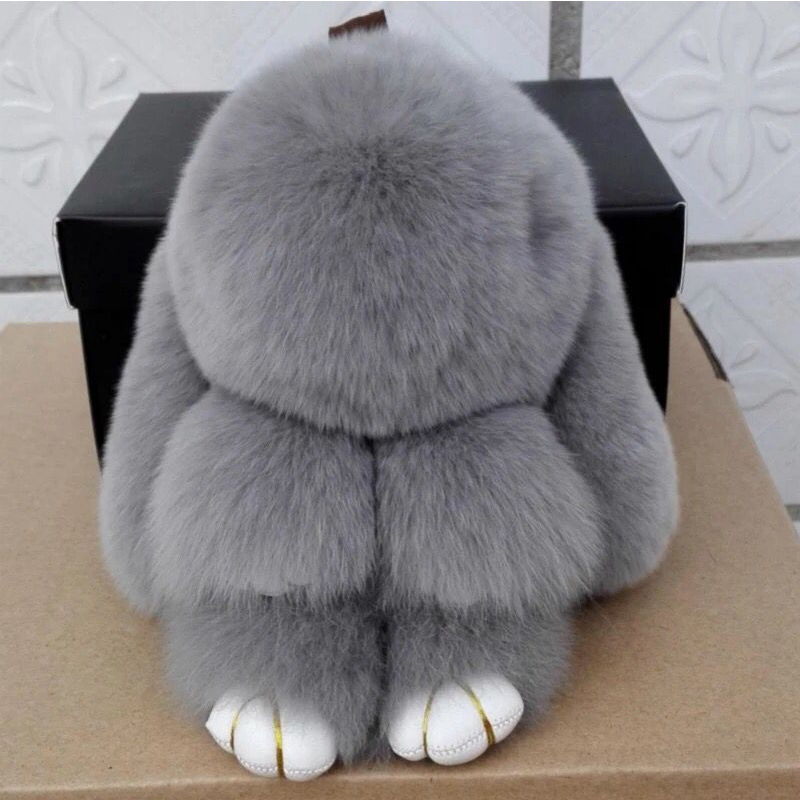 2016 New100% Real Genuine Rex rabbit Furs plush Pendant Bag Car Charm Tag Cute Mini Rabbit Toy Doll Real Fur Monster bunny toys