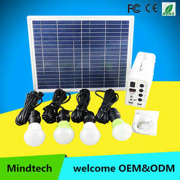 wholesale mini 12V 10w small solar home lighting system in nairobi kenya