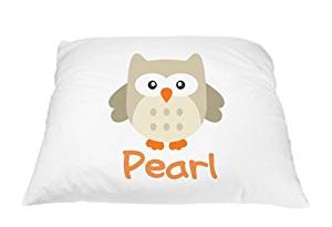Personalized Kid's Owl Pillowcase Microfiber Polyester Standard 20 by 30 Inches, Owl Pillow Cover, Owl Décor for Girls Room, Gifts with Owls, Personalized Gifts for Kids, Gifts for Owl Lovers
