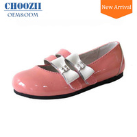 China Factory Wholesale All Size Top Brand Kids Shoes New Fashionable Ballet Shoes Leather